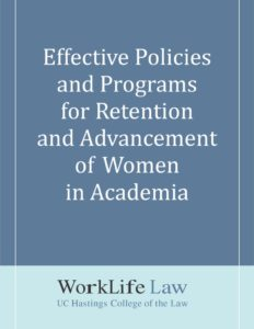 thumbnail of Effective Policies and Programs for Retention and Advancement of Women in Academia