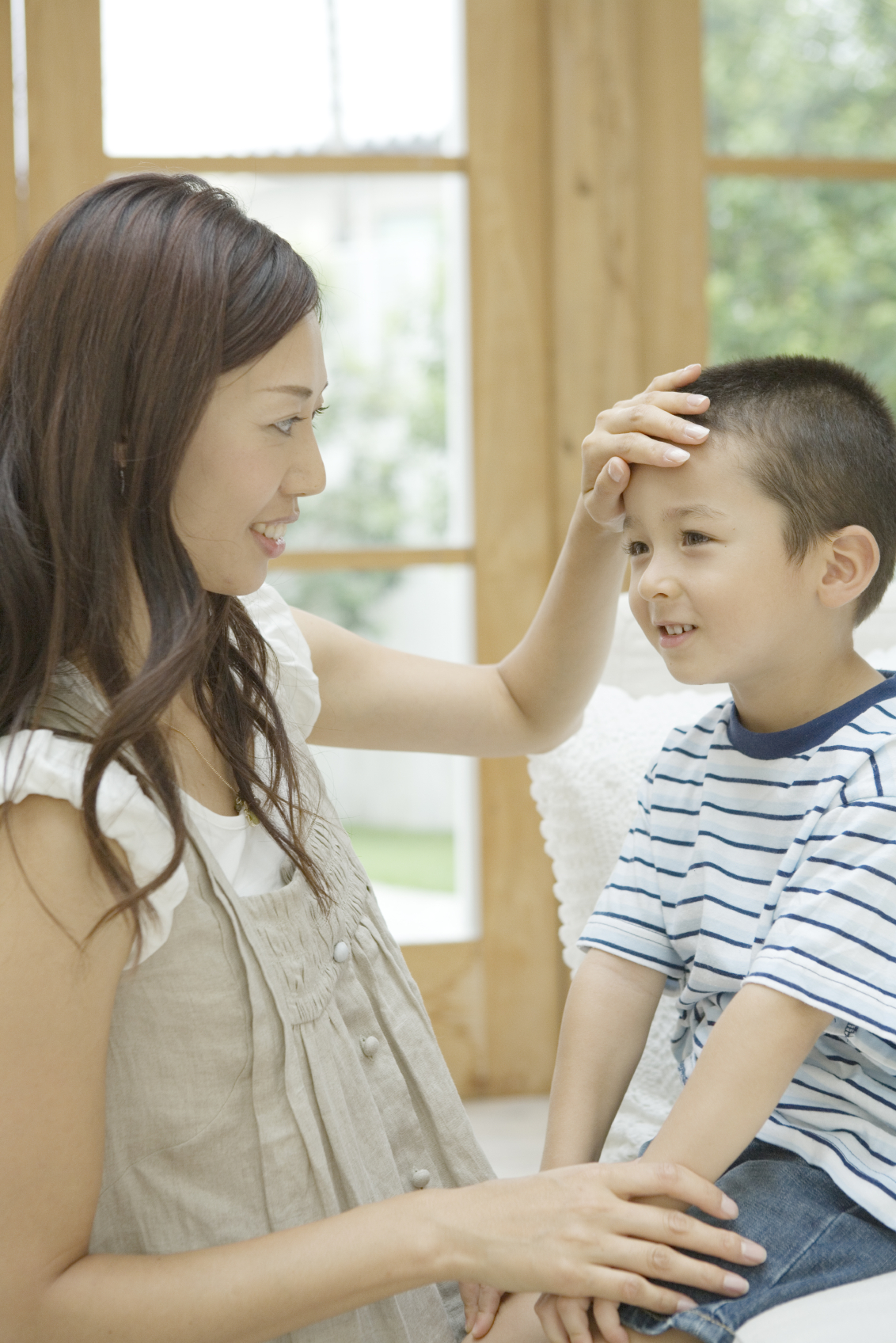 Mother Patting Son On The Head Worklife Law