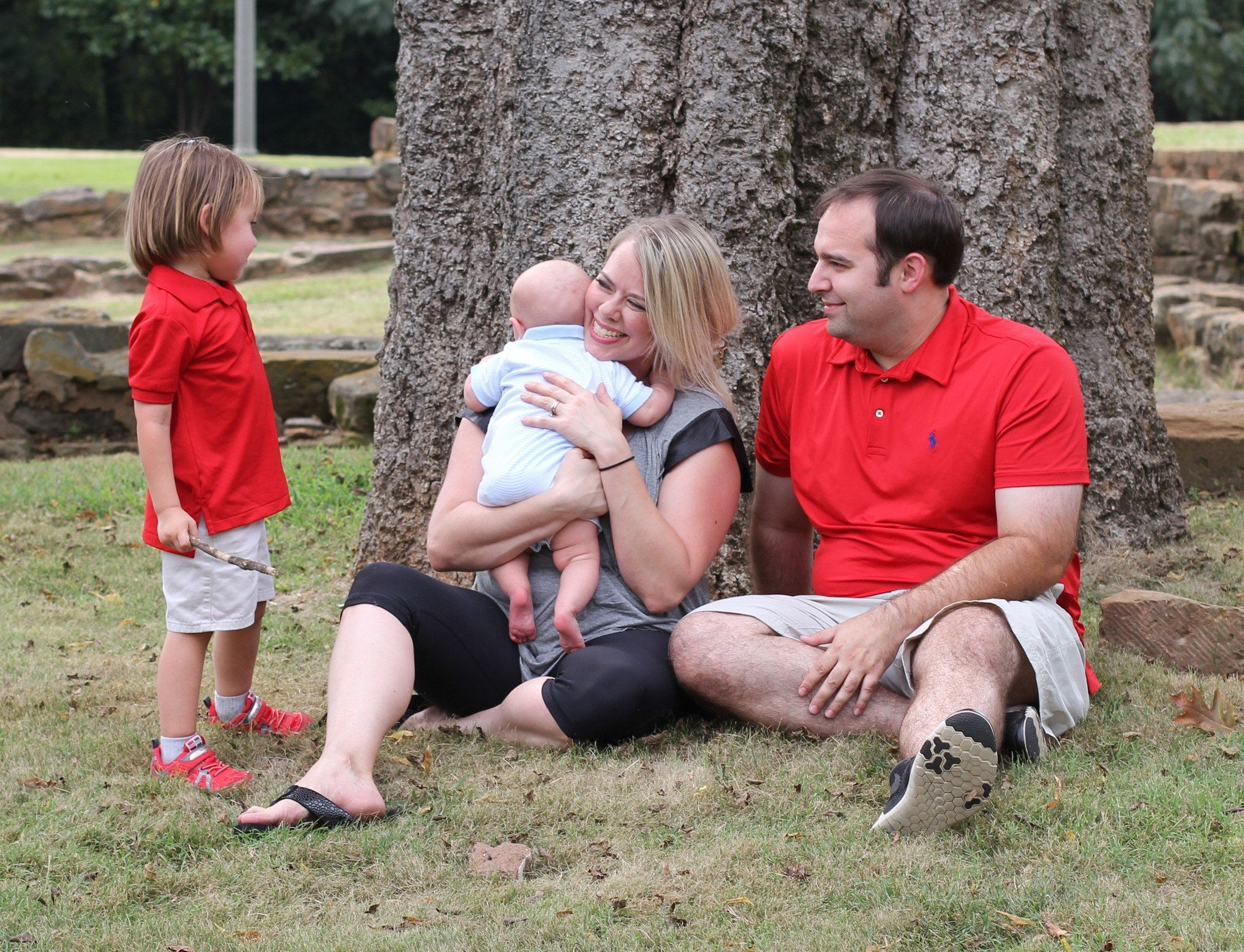 Stephanie Hicks with her husband William and their children.