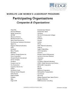thumbnail of Participating Organizations – WLL Leadership Programs
