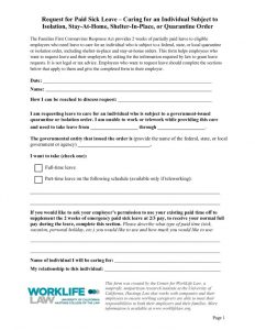 thumbnail of Paid Leave Request Form – Caring for Individual Subject to Government-Issued Isolation Order