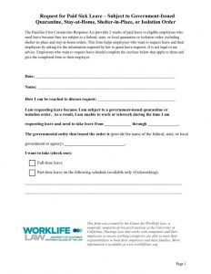 thumbnail of Paid Leave Request Form – Stay-at-Home or Isolation Order