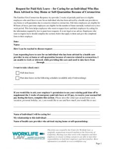 thumbnail of 2020-09-14 Paid Leave Request Form – Caring for Individual Advised to Self-Quarantine