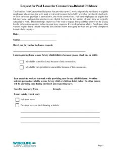 thumbnail of 2020-09-14 Paid Leave Request Form – Coronavirus-Related Childcare