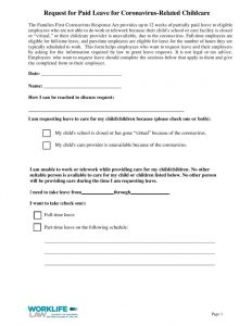 thumbnail of 2020-09-29 Paid Leave Request Form – Coronavirus-Related Childcare