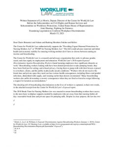 thumbnail of 2021-03-15 CWLL PUMP Act Support Letter House Committee on Education and Labor Hearing